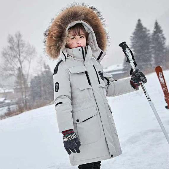 儿童羽绒服男童中长加厚款2020新款中大童韩版洋气儿童外套
