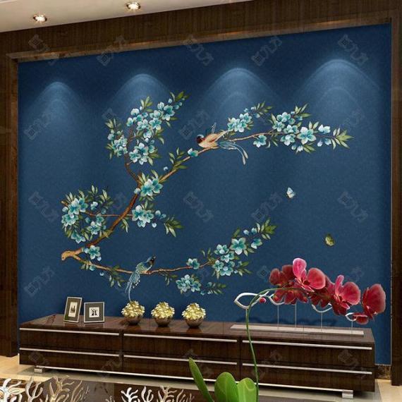 背景墙板 刺绣背景墙墙板定制(㎡)