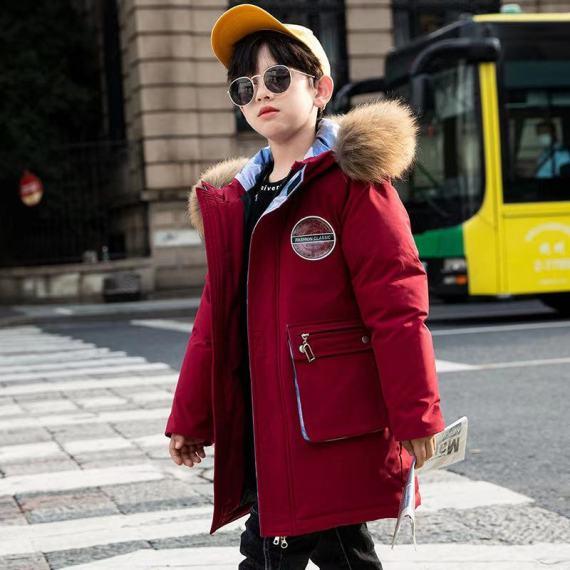 男童羽绒服2020新款中大童洋气中长款男孩加厚冬装外套